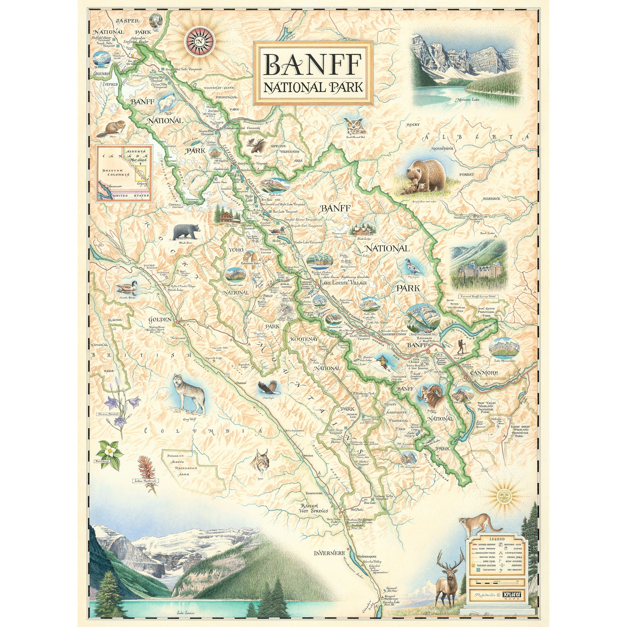 image relating to Printable Map of Glacier National Park titled All Maps - Xplorer Maps