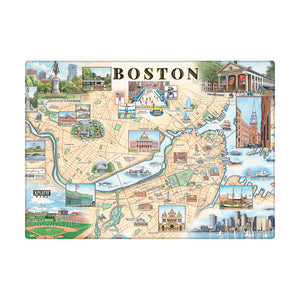 Boston Map Magnet