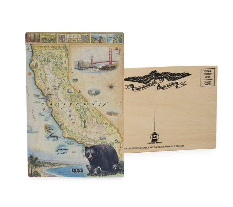 California Wood Postcard