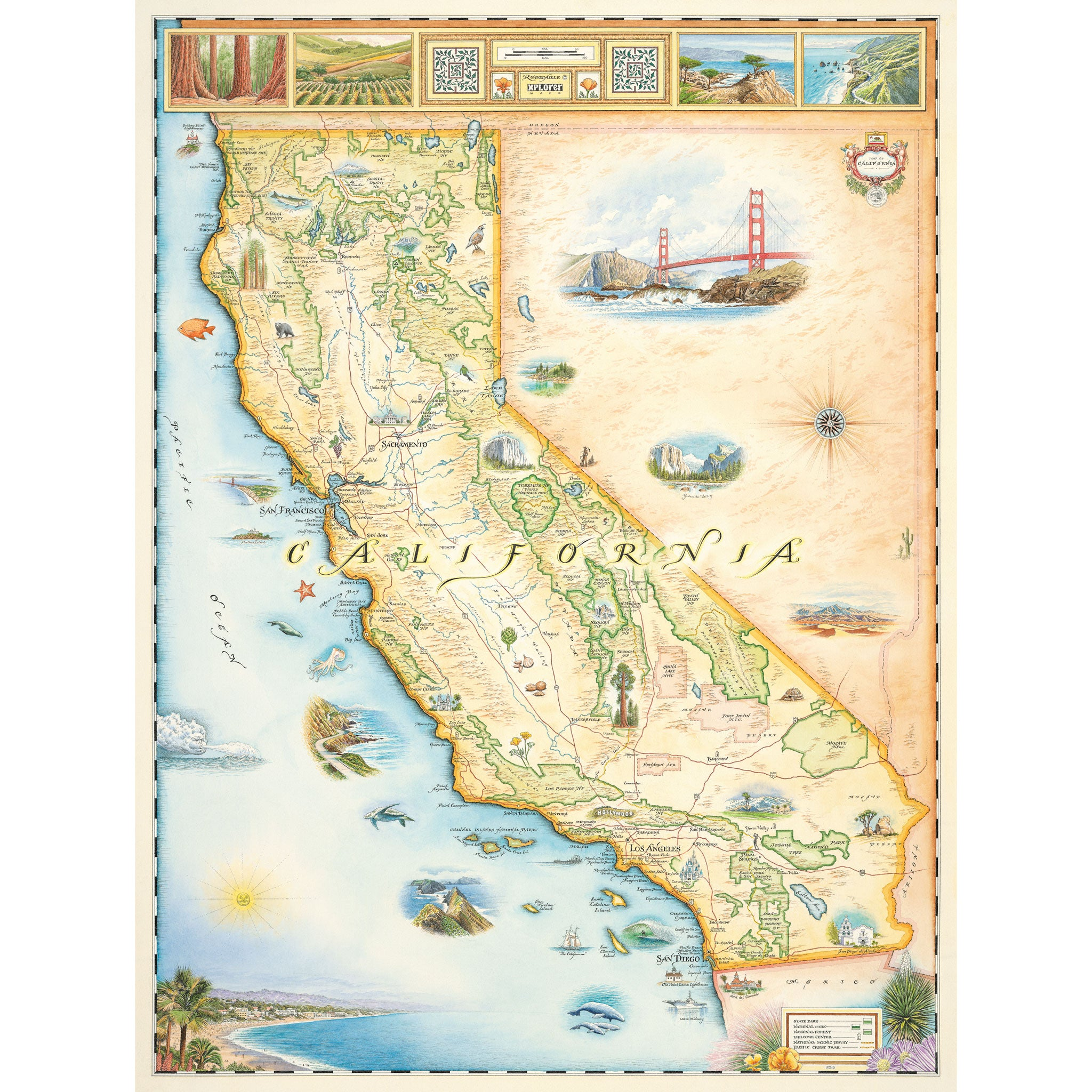 California State Map - Xplorer Maps on