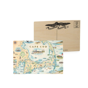 Cape Cod Wooden Postcard