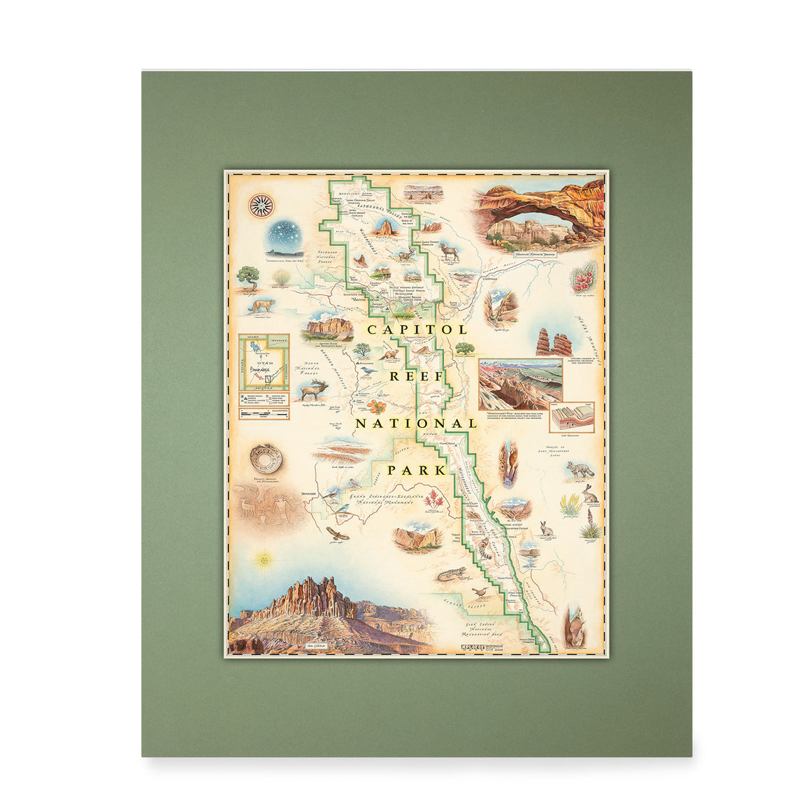 Capitol Reef Mini-Map