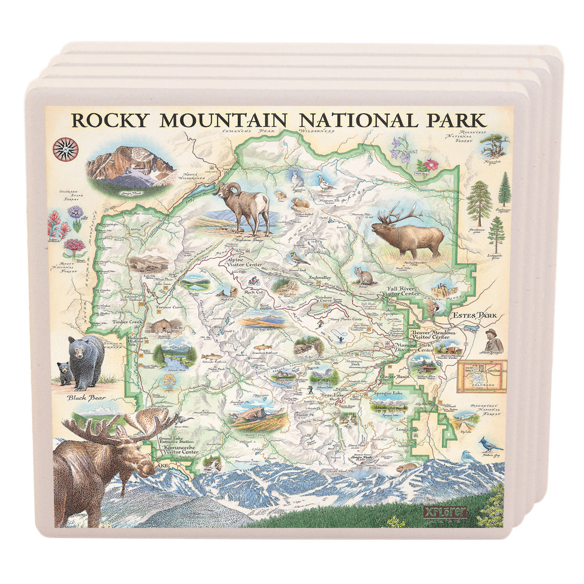 Rocky Mountain National Park Coasters