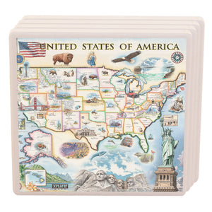 USA Ceramic Coasters