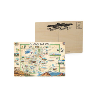 Colorado Wooden Postcard