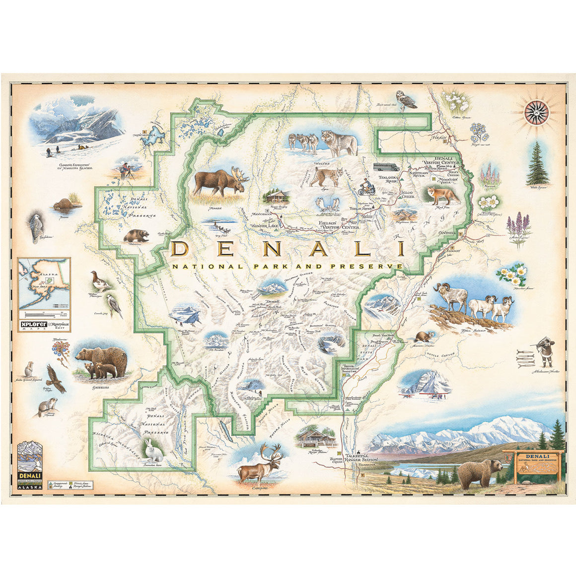Denali National Park & Preserve Map