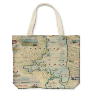 Flathead Lake Canvas Tote Bag