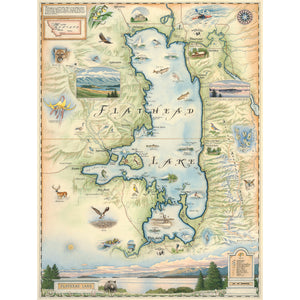 Flathead Lake Map
