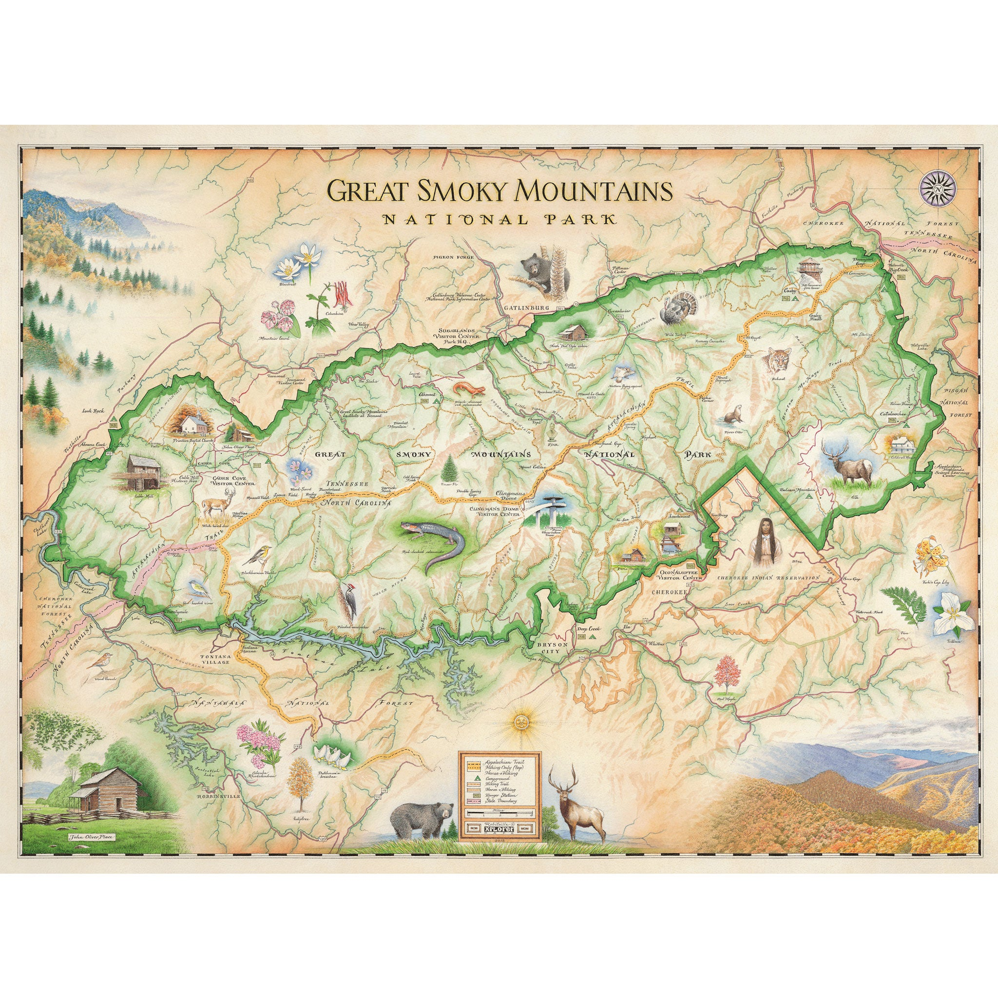 Great Smoky Mountains National Park Map - Xplorer Maps