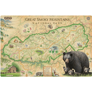 Great Smoky Mountains Wood Sign