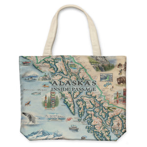 Inside Passage Canvas Tote Bag