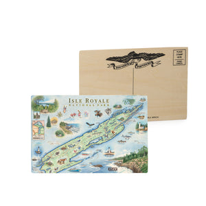 Isle Royale Wood Postcard