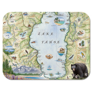 Lake Tahoe Map Serving Tray