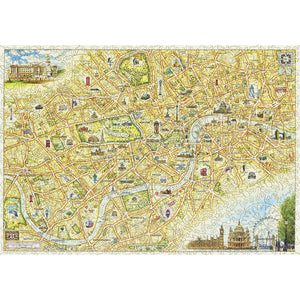 London City Map Wood Puzzle