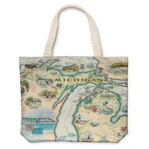 Michigan Canvas Tote Bag