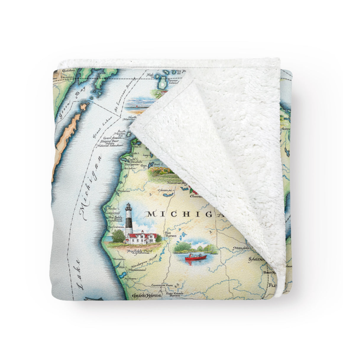 Michigan Fleece Blanket
