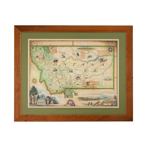Reclaimed Flathead Lake Larch Framed Maps