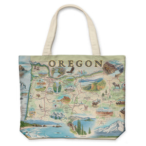 Oregon Canvas Tote Bag