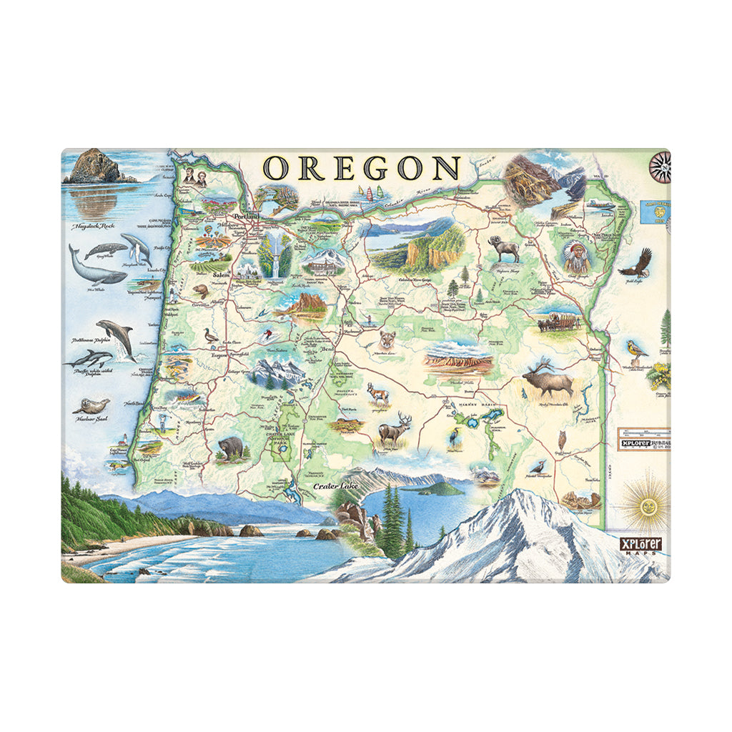 Oregon State Map Magnet