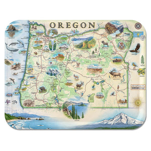 Oregon Map Serving Tray