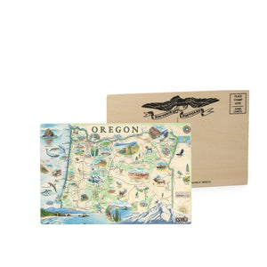 Oregon Wooden Postcard
