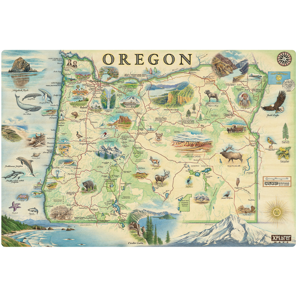 Oregon Wood Sign