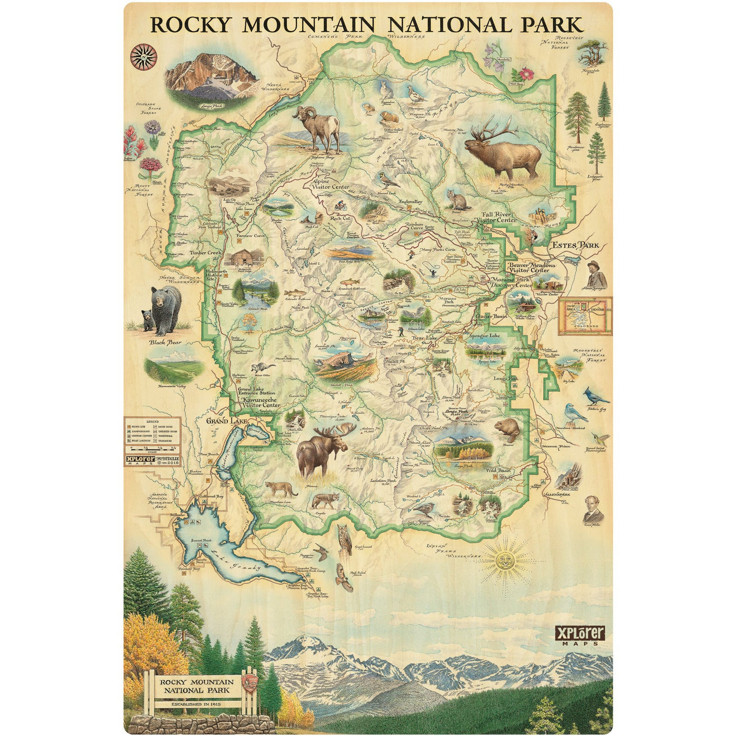 Rocky Mountain Wood Sign