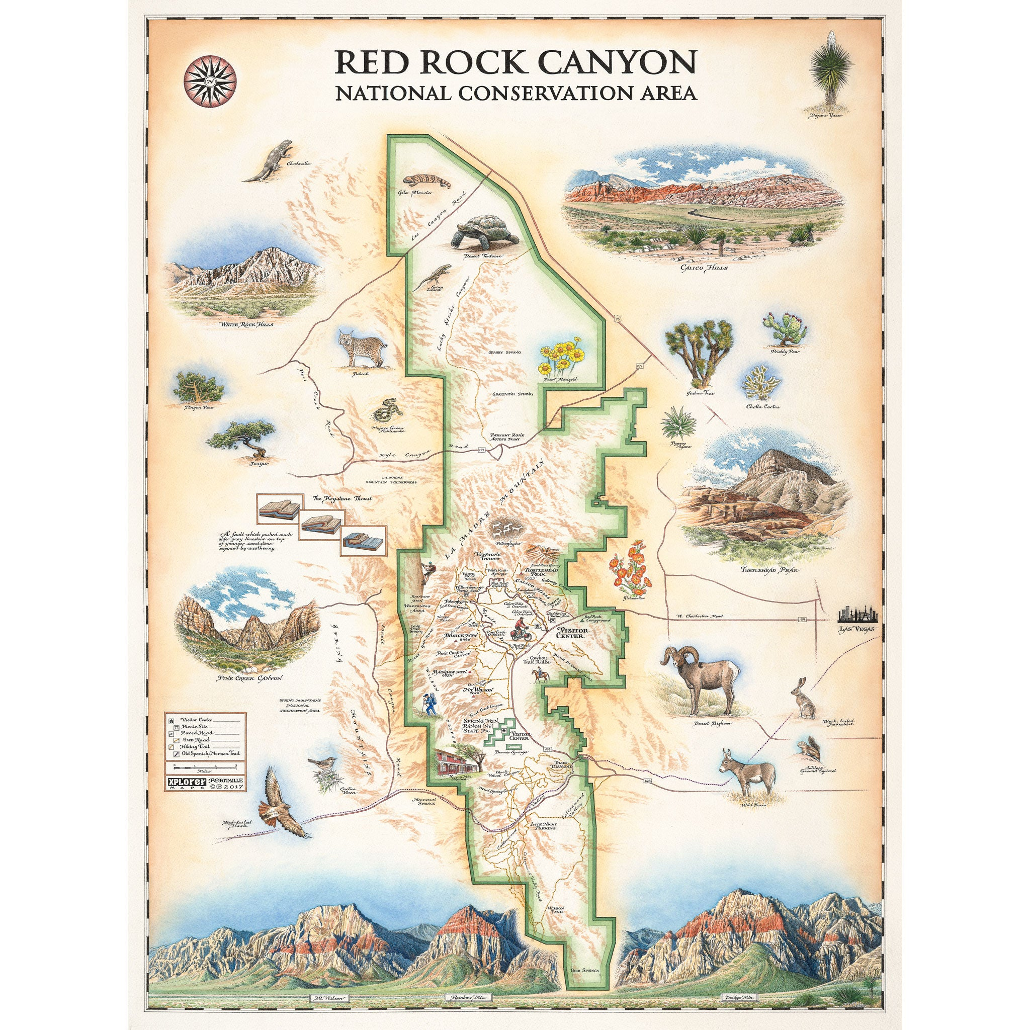 Red Rock Canyon Map Xplorer Maps - Map od