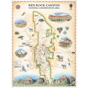 Red Rock Canyon Map