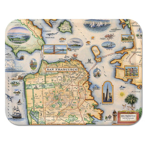 San Francisco Map Serving Tray