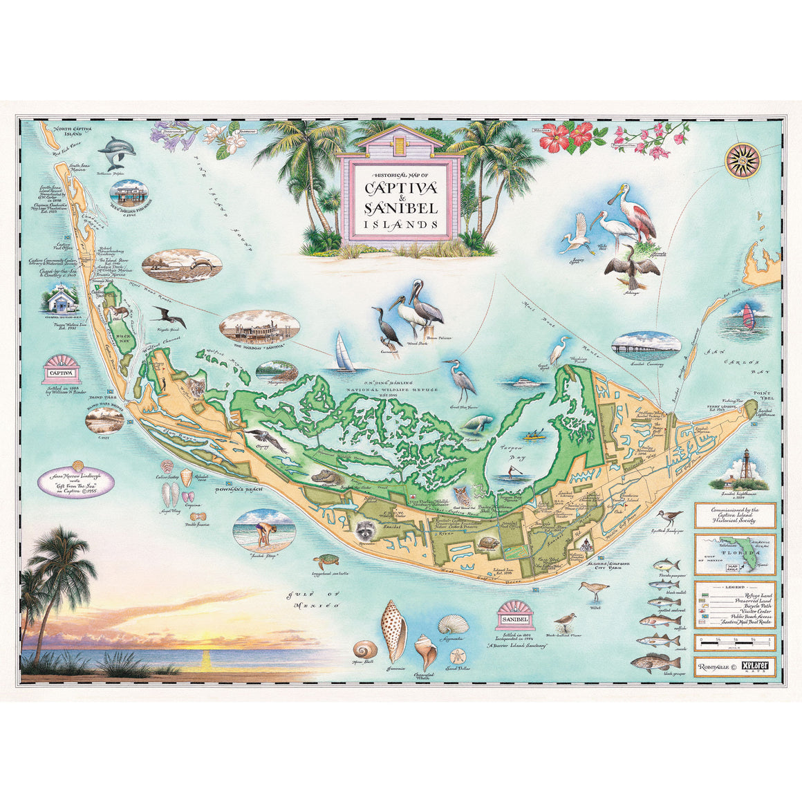 Sanibel Captiva Islands map