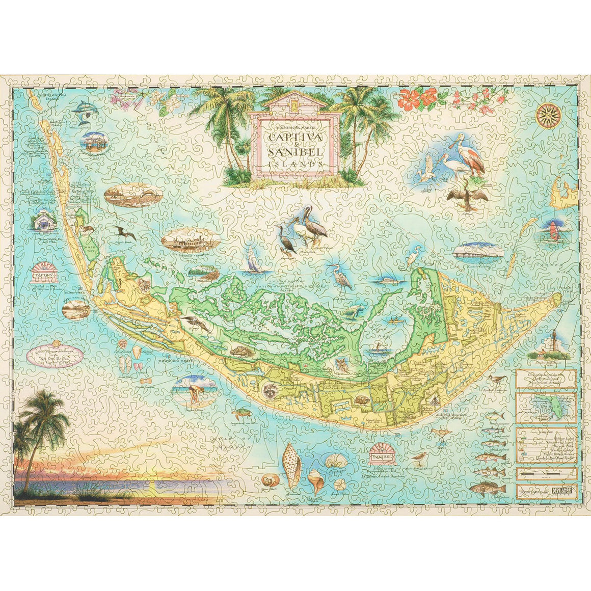 Sanibel Captiva Islands wooden puzzle