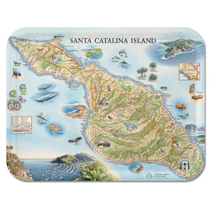Santa Catalina Map Serving Tray