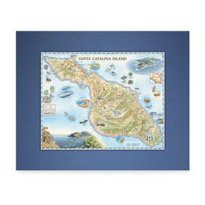 Catalina Map Art - Blue Matte