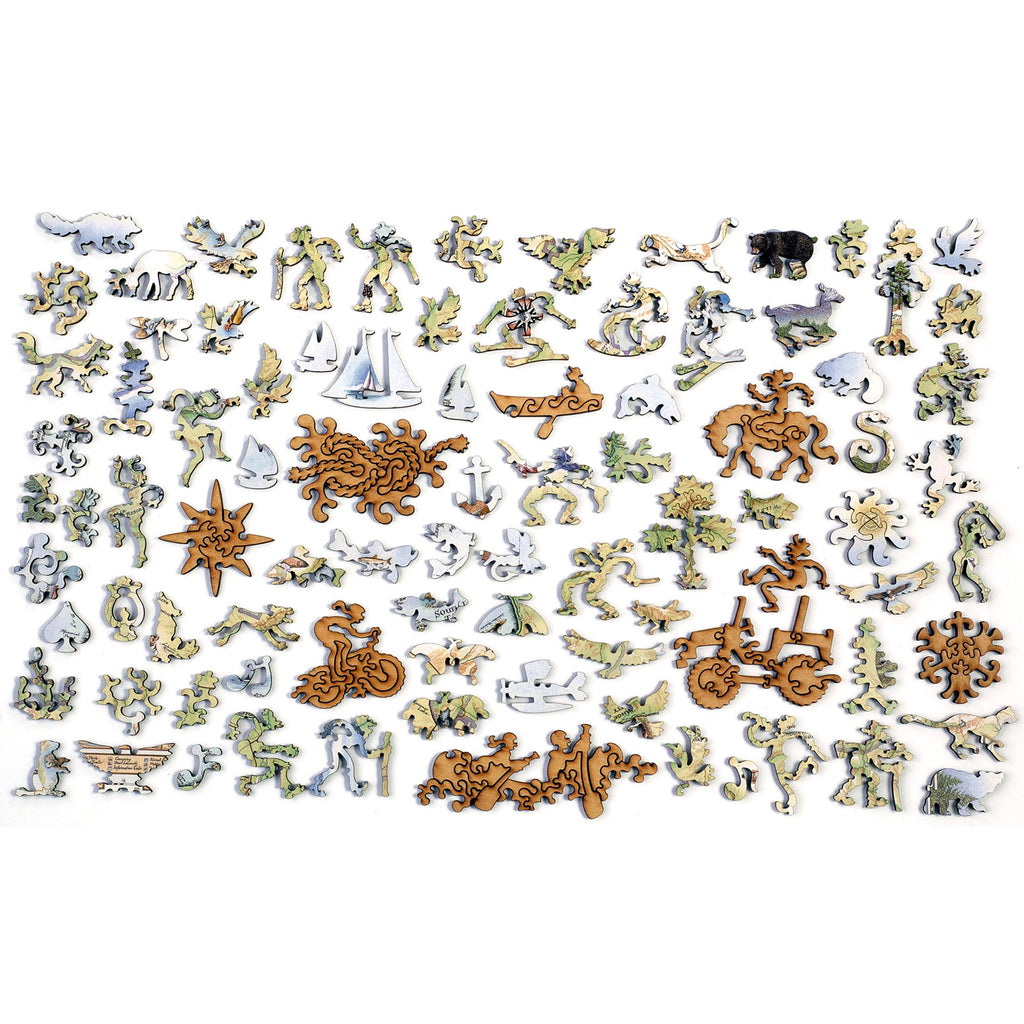 Lake Tahoe Wood Puzzle