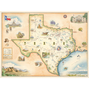 "Texas Map 18"" x 24"""