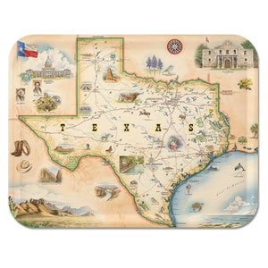 Texas Map Serving Tray