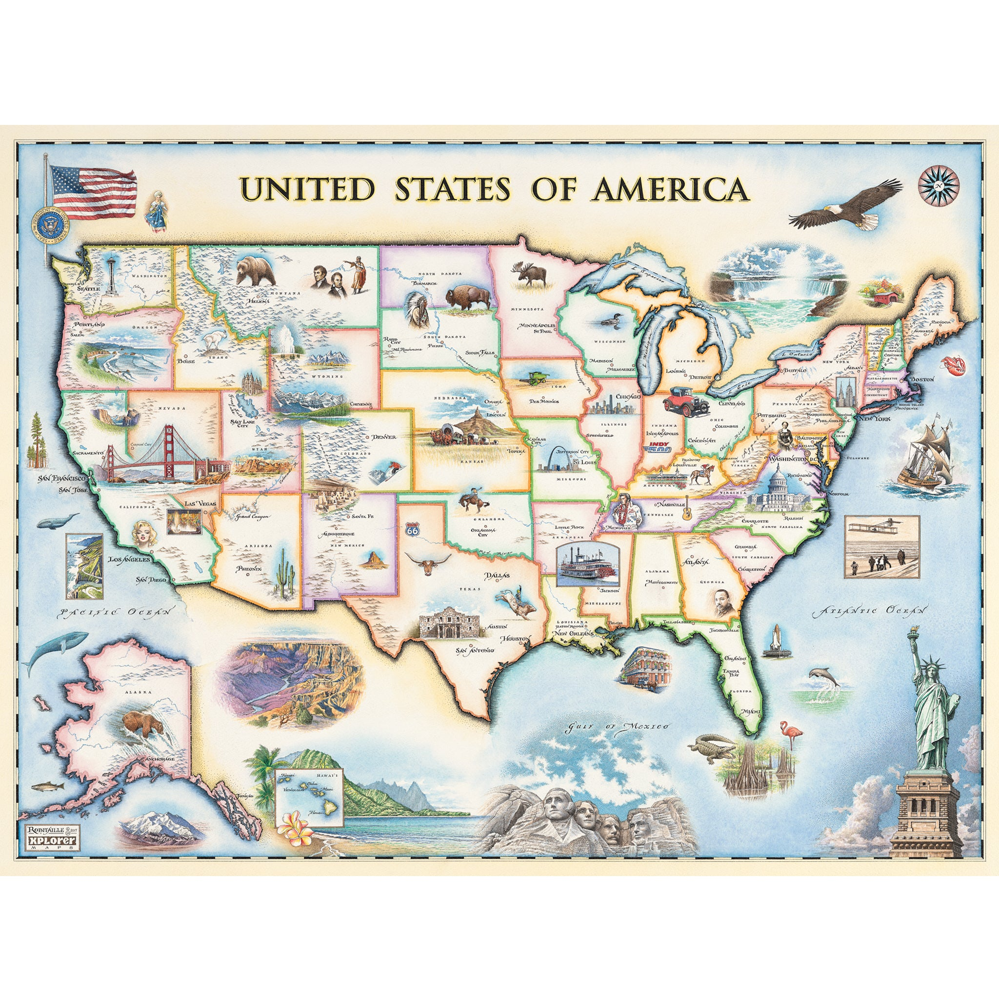 USA Map - Xplorer Maps