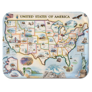USA Map Serving Tray