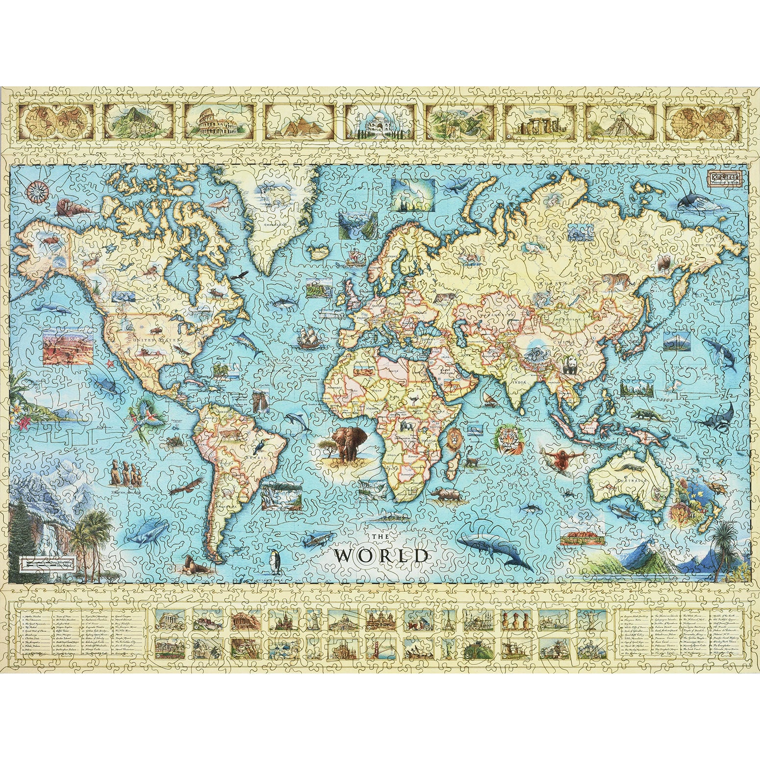 Wood puzzles xplorer maps the world map wood puzzle gumiabroncs Gallery