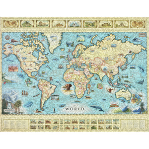 The World Map Wood Puzzle