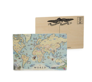 World Wood Postcard