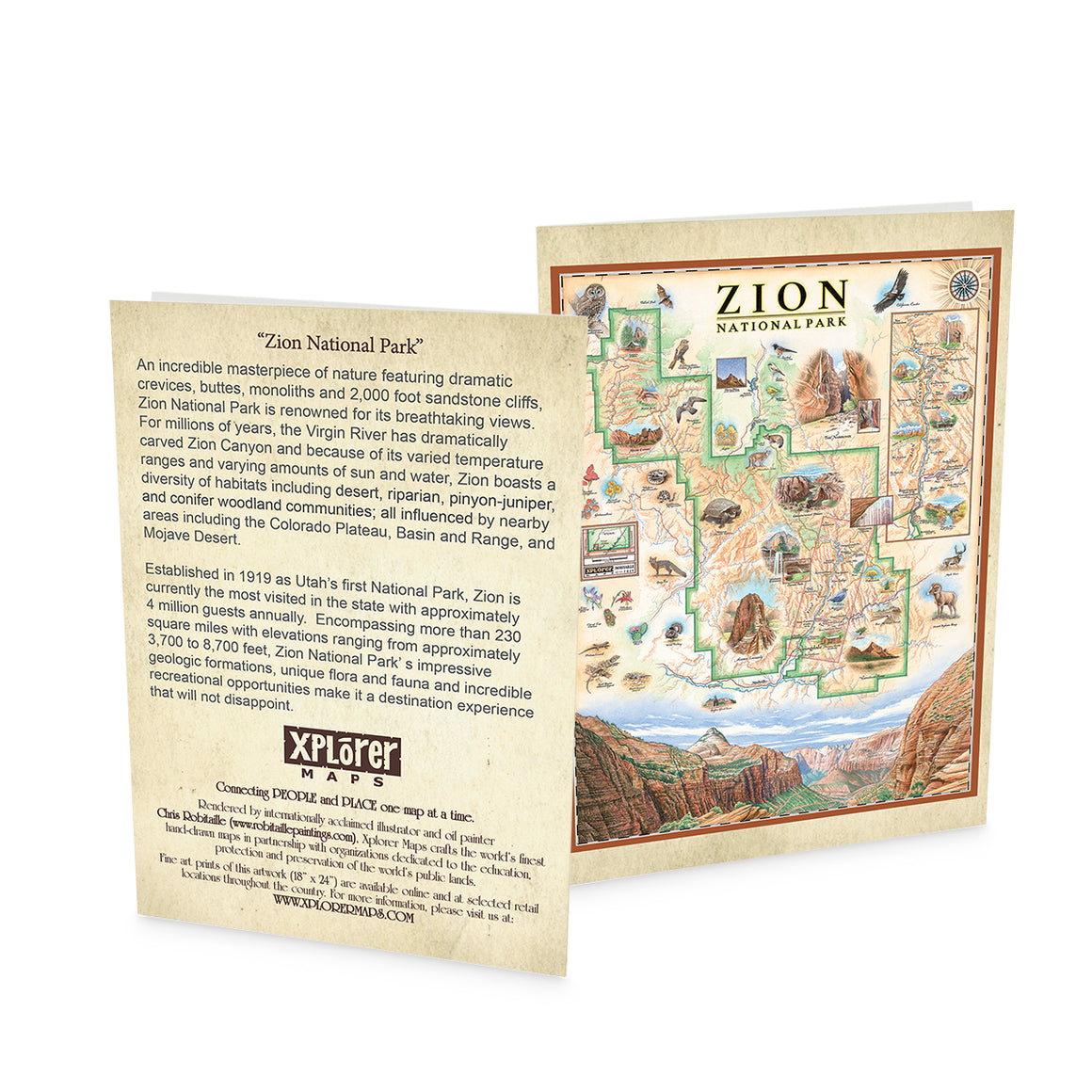 Zion National Park Notecard Greeting Card