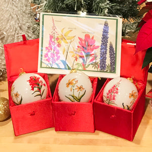 Wildflowers of Montana Holiday Ornaments