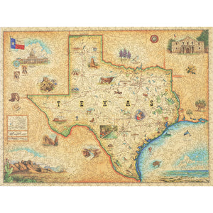 Texas wood jigsaw puzzle