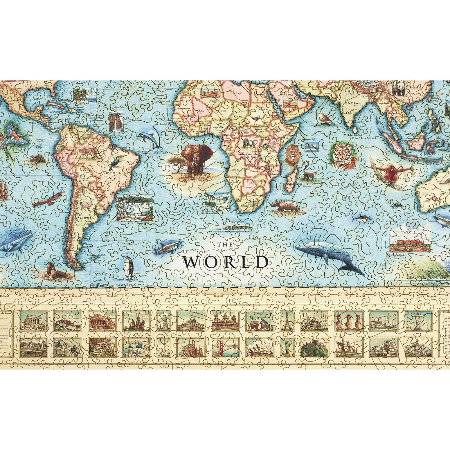 The world map wood puzzle xplorer maps the world map wood puzzle gumiabroncs Images
