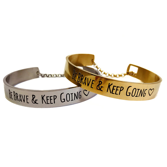 Be Brave & Keep Going Bracelet | MIA•MIA