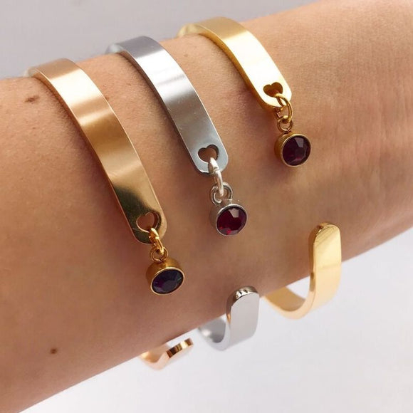 Cuff Bangle With Heart | MIA•MIA