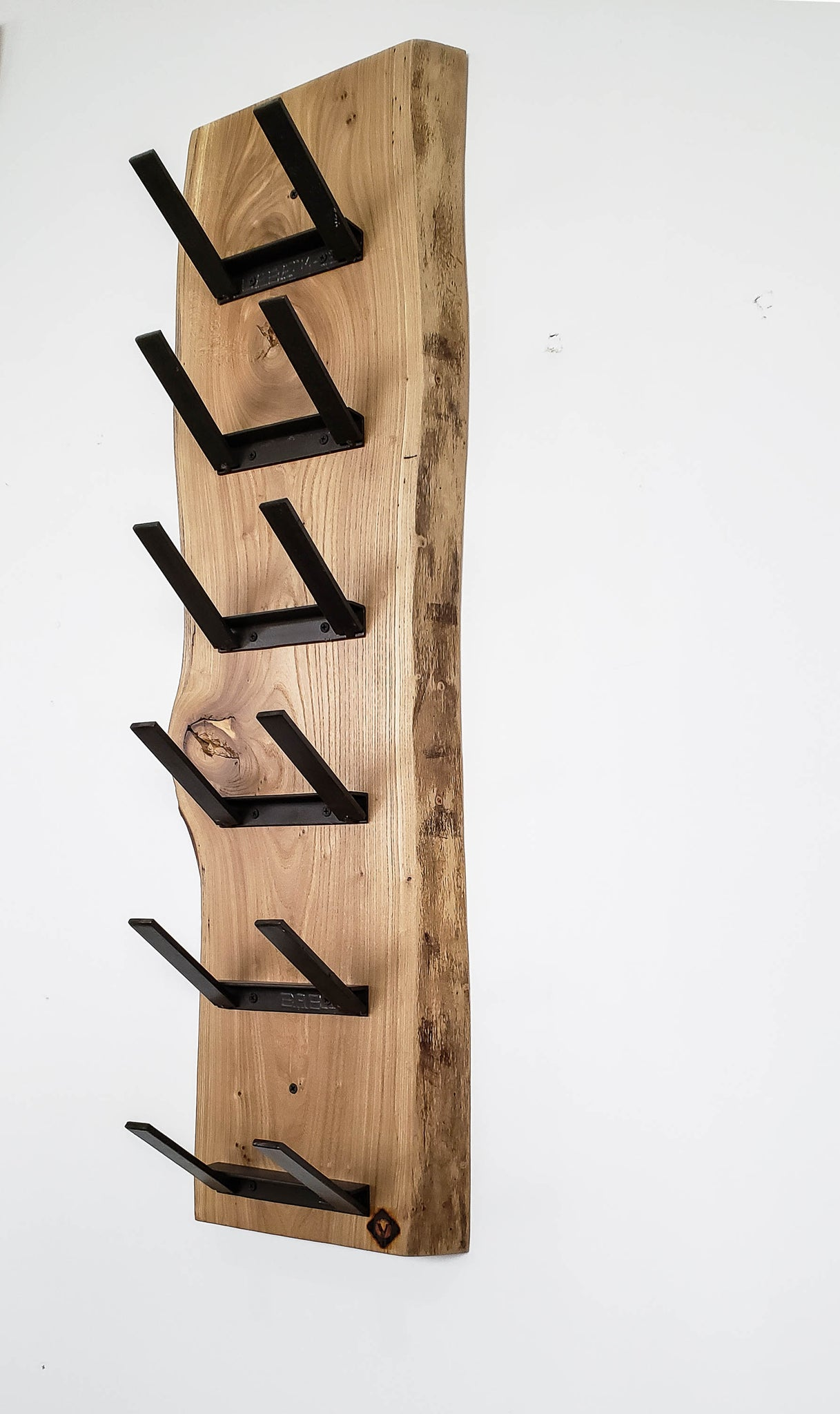 Live Edge Wine Rack : Elm