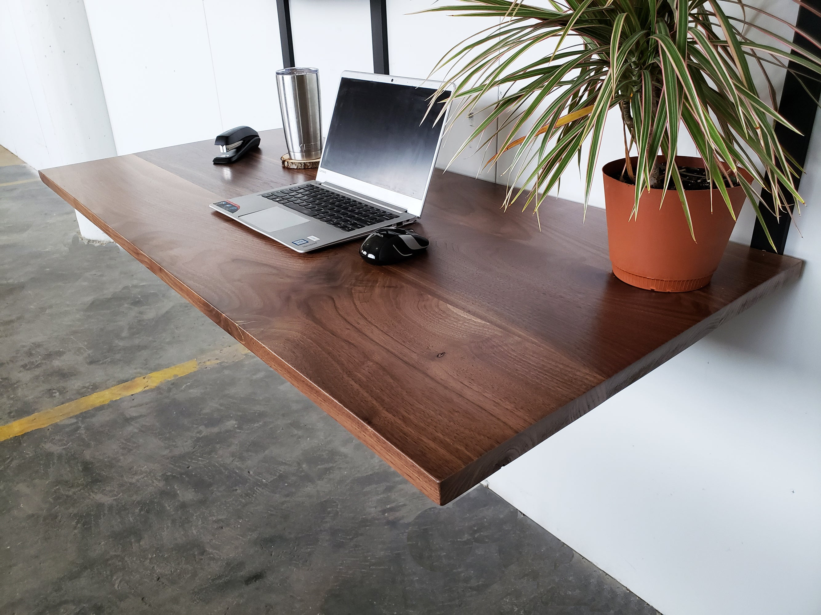 Desk - blackwalnut - modern farmhouse desk - minimal-furniture-apartment-office
